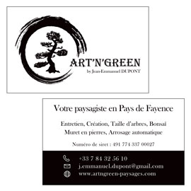 Carte de visite Art'n'Green