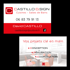 Cartes de visite pour Castillo D.Sign